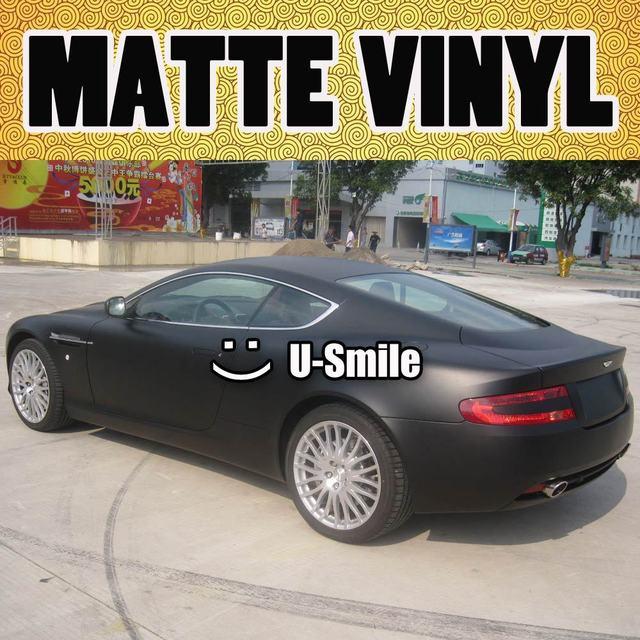 Matte Black Car Vinyl Matt Black Car Wrap Matte Black Film Air Free For Car  Stickers