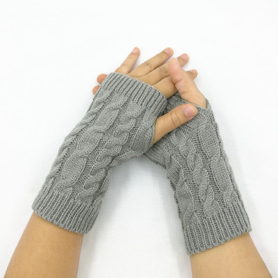 1PC New Paragraph Knitting Fingerless Gloves Women Fashion Lady Casual Autumn Winter Gloves Girls Womens Hand Mittens