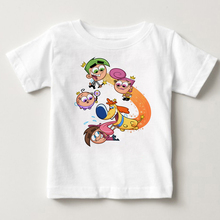 The Fairly OddParents summer short sleeved kids Timmy Tshirts boys tops and girls tshirt babe t-shirt  MJ