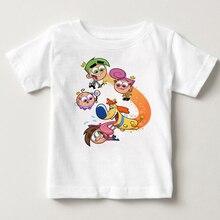 купить The Fairly OddParents summer short sleeved kids Timmy summer Tshirts boys tops kids and girls tshirt babe t-shirt tops Timmy  MJ по цене 503.46 рублей