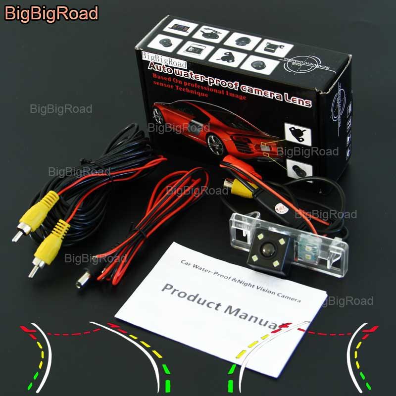 BigBigRoad voiture intelligente dynamique piste caméra de recul étanche pour peugeot 308 307 307cc 408 508 607/806/807 Eurovans