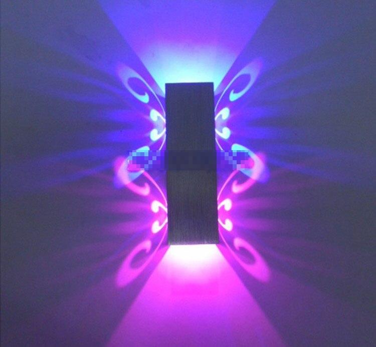 6 Watt LED Dimmbar Aluminium Kleine Wandleuchte Silber Schlafzimmer Wohnzimmer Beleuchtung Fr Zuhause In