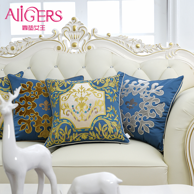 Avigers Luxury Velvet Cushion Cover 45x45cm Fashion Embroidery Pillow Cover  PillowCase Home Decorative Sofa Chair Throw