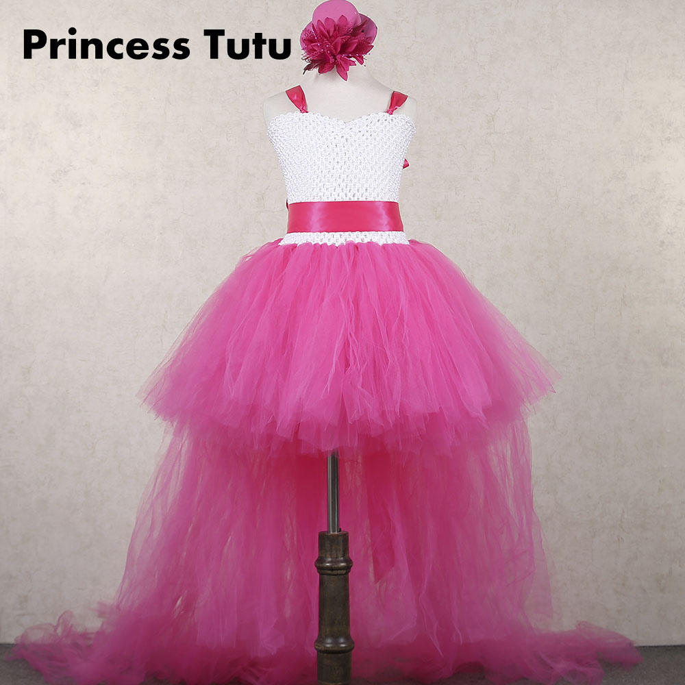Kids Girls Vneck Prom Knee Length Long Tail Tutu Dress Fancy Girl Birthday Wedding: Tail Dresses For Fancy Weddings At Reisefeber.org