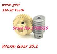 1 sets1M 20T współczynnik redukcji: 1: 20 miedziany przekładnia ślimakowa 5 MM pręt: 5mm metalowy reduktor ślimakowy części przekładni D: 33MM w Koła zębate od Majsterkowanie na