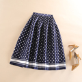 High Waist Fall Winter Women Skirt Casual Polka Dots Printed Flared Tutu Circle Pleated Midi Skater Skirts Saias Faldas Jupe