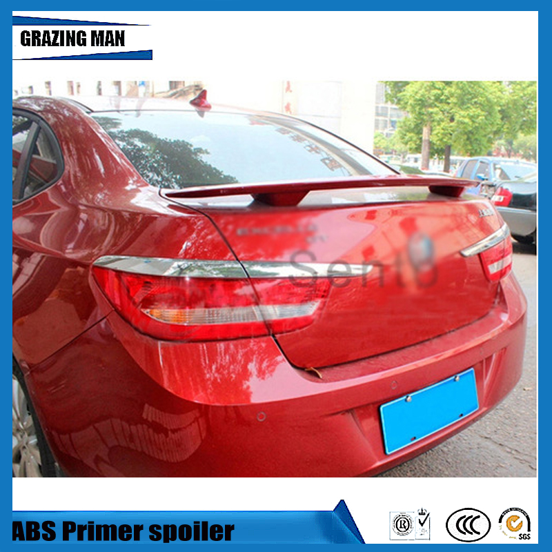 1 Piece ABS Primer Unpainted Car Rear Trunk Spoiler For Excelle GT Spoilers & Wings     - title=