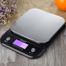 Цифровые кухонные весы для еды 10 кг/1 г из нержавеющей стали, почтовые Электронные измерительные весы, инструменты, весы