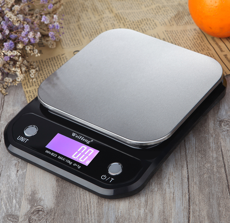 Digital Kitchen Food Scale 10Kg/1g Stainless Steel Weighing Postal Electronic Scales Measuring Tools Weight Balance