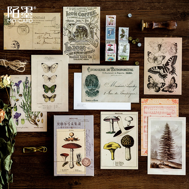 30 Pcs/lot Vintage Beagle Forest Collection Record Postcard Set Letter Envelope Greeting Cards Gift New Years Postcards