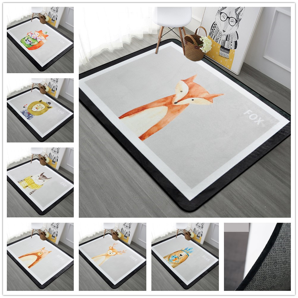 120*180cm Animal Printed Carpet Living Room Children Bedroom Rugs And Carpets Computer Chair Floor Mat Cloakroom Carpet120*180cm Animal Printed Carpet Living Room Children Bedroom Rugs And Carpets Computer Chair Floor Mat Cloakroom Carpet