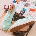 E-LOV DQ3 Специальная Окраска Конструкций Ручная Роспись Холст Обувь Персонализированные Женщины Мужчины Взрослых Повседневная Обувь Милые Туфли На Платформе