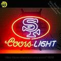Неоновая вывеска для CL Beer 49 ers Team Coors Light club неоновая лампочка неоновая вывеска для пивного бара неоновая вывеска световая вывеска стеклянная...