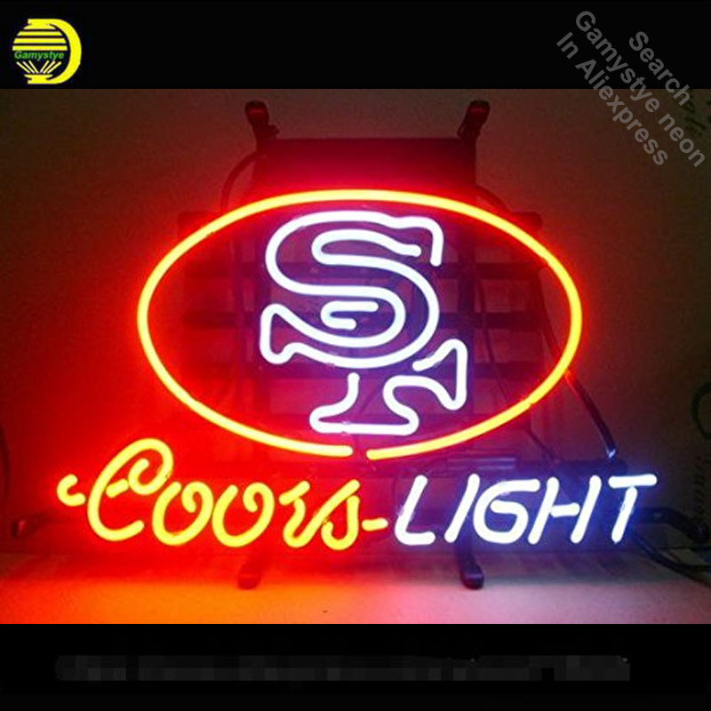 Neon Sign for CL Beer SF 49 ers Team Coors Light neon bulb