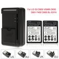 Alta capacidade 2 x 3500 mAh substituição da bateria + carregador de parede para BL-53YH / LG G3 D855 VS985 D830 D851 D850 F400 Batteria
