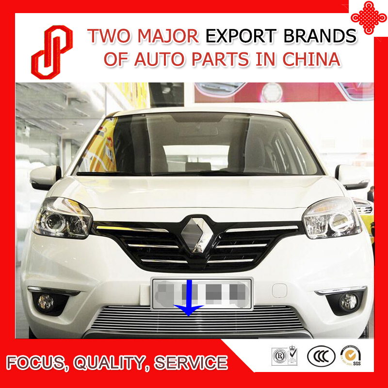 High quality 304 stainless car front grille racing grills grill cover trim for Koleos 2009 10 11 12 13 14 2015