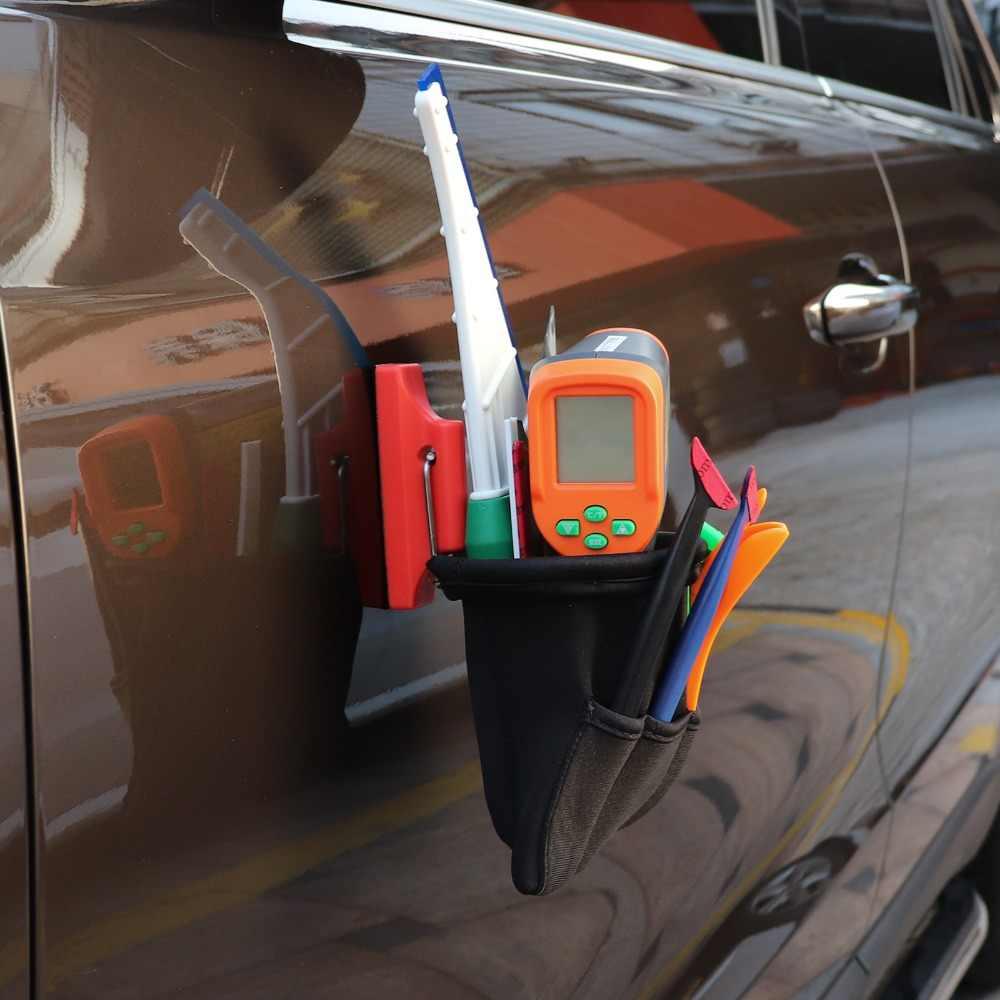 Foshio forte ímã ferramentas saco para vinil carro envoltório ferramentas janela matiz rodos titular da faca bolsa portátil saco acessórios do carro