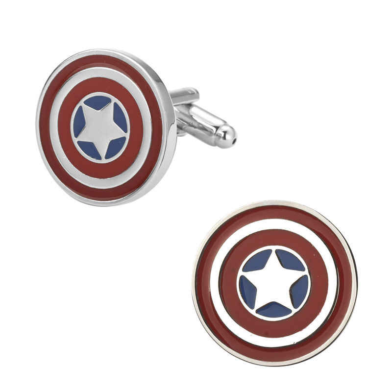 ฟิล์ม Avengers ตัวอักษรโลโก้ Cufflinks Superhero Thor Star Wars แฟลช Deadpool Batman Tie คลิปสำหรับผู้ชายพรรคเครื่องประดับ