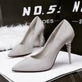 Escritório sapatos Dedo Apontado sapatos de salto alto 2017 Sexy bombas zapatos de mujer Sapatos de Festa Mulher Bombas sapatos feminino Sapatos verdes X324