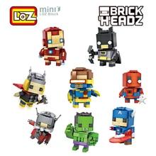 LOZ Super Hero Building Blocks Deadpool Superman Captain America Batman Office Small Ornaments Decompression Building Blocks