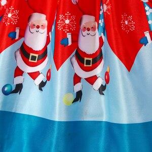 Image 4 - BAOHULU ילדי חג המולד שמלת ילדה קצר אדום נסיכת מסיבת שמלת חורת כדור שמלת עבור 2T 3T 4T 5T 6T 7T 8T 9T 10T 11T ילדים