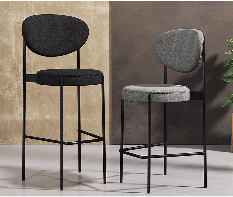 Bar Chair Home High Stools Fashion Creative Front Desk Modern Minimalist Back Bar Chair