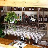 80 см * 35 см Мода бар бокал вина стойку стене висит винный шкаф Стекло подстаканник винный фужеров Кубок держатель высококлассные бара