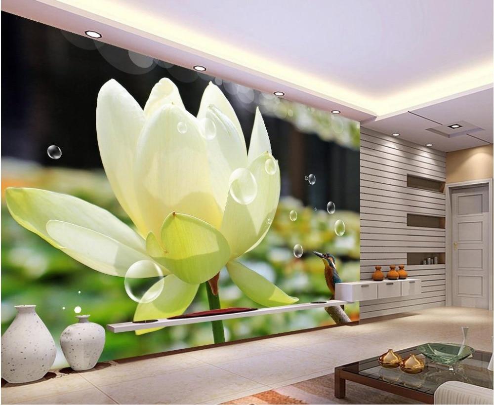 custom wall mural Modern art painting high quality mural 3d Lotus ...