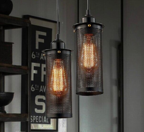 Free Shipping Vintage Edison Indurstial Black Iron Pendant Lamp Dining Room Light Sliver Bar Lights