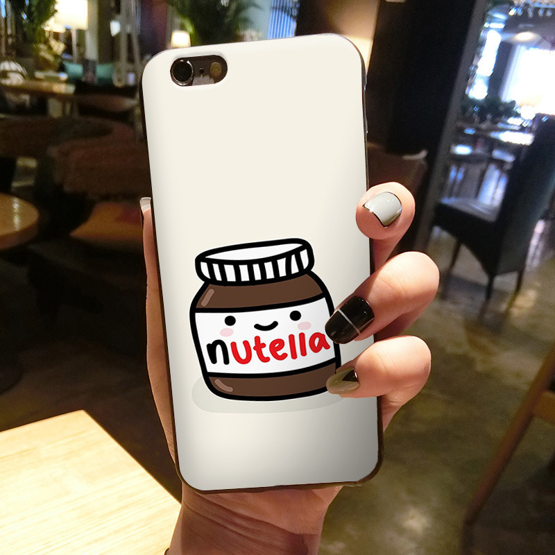 maiyaca chocolate food tumblr nutella classic image paintings cover mobile phone case for iphone 8 7 6 6s plus x 5 5s se 5c in half wrapped case from