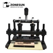 ZONESUN 26×12 см двойное колесо ручной кожи высечки фото бумага пвх/EVA листовая пресс-форма резак высечки машина инструмент