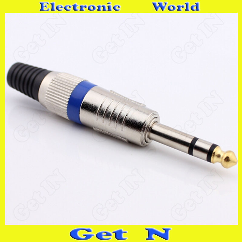 20pcs 3 Pole Pin 6 35mm Weld On Male Connector Plug for Microphone Audio Console Mixer 6 5 TRS Stereo Audio Plug in Connectors from Lights Lighting