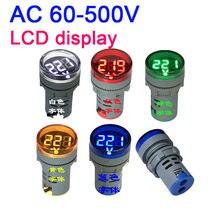 60 500V voltmètre affichage LED numérique volts voltmètre + indicateur lumineux ca 110v 120V 220v 230V 240V 380V V v