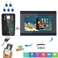 7 дюймов Беспроводной домофон WI-FI дверной звонок ID Card/пароль доступа Управление видео-телефон двери