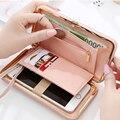 Высокое качество женщины кошелек случайный кошелек женский карты держатели мобильного телефона карманные подарки для женщин мешок денег сцепления Portefeuille XD3681