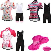 Női kerékpáros trikó rövid készlet kerékpáros ruházat 2018 mtb kerékpáros viselet kerékpáros ruha Pro triatlon öltöny bőrruha ruha sportkészlet