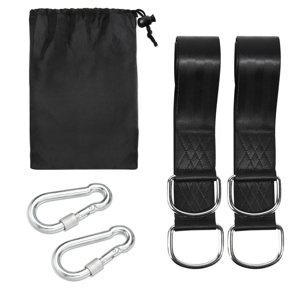 1set Of Super Strong Outdoor Safety Hammock Strap Belt Hamac Hamaca Hamak Traveling Portable Hanging Tree Rope With Arabiner
