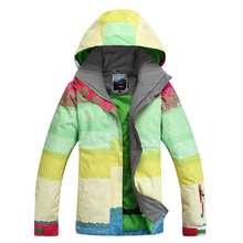 Free shipping Women's Ski Suit Waterproof Sportwear Female Women Winter Skiing wear Hoodie Jacket Strap snow jacket