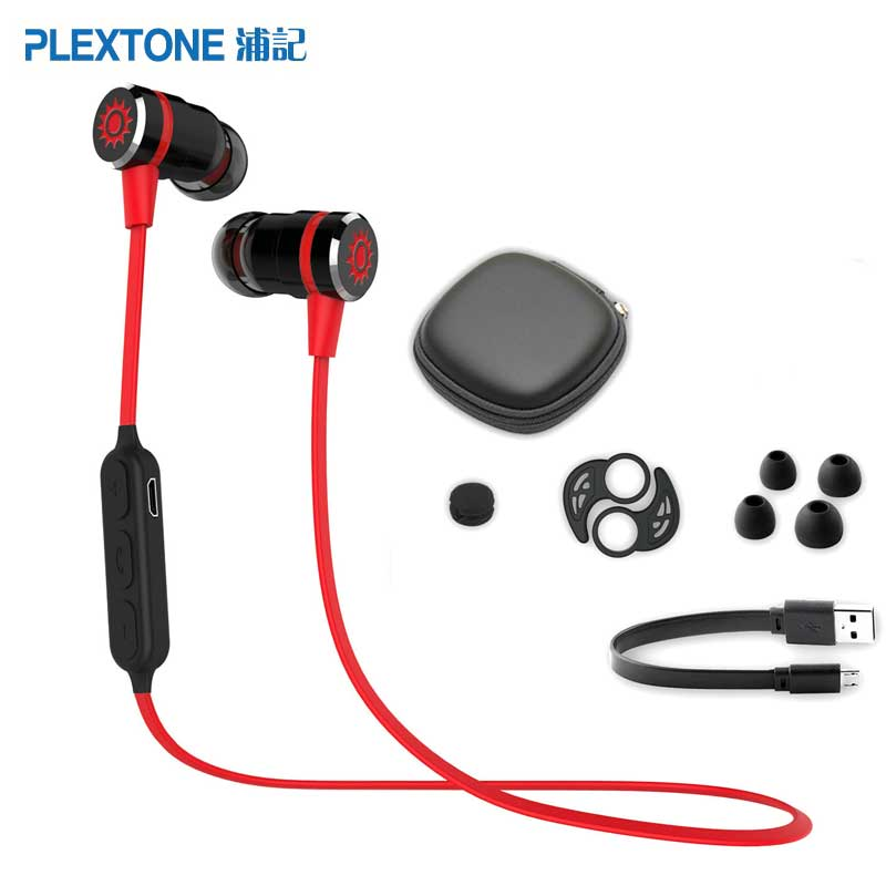 Plextone BX335 Wireless Sport Headphones Bluetooth Headset Metal Magnetic Stereo Earphone Bluetooth Headphone With Mic For Phone