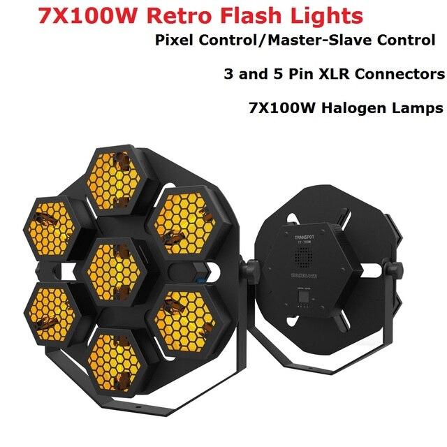 New 7X100W Retro Flash Lights Pixel Control DMX Par Lights Stage Wash Effect Lights Stage Disco DJ Club KTV Family Party Lights