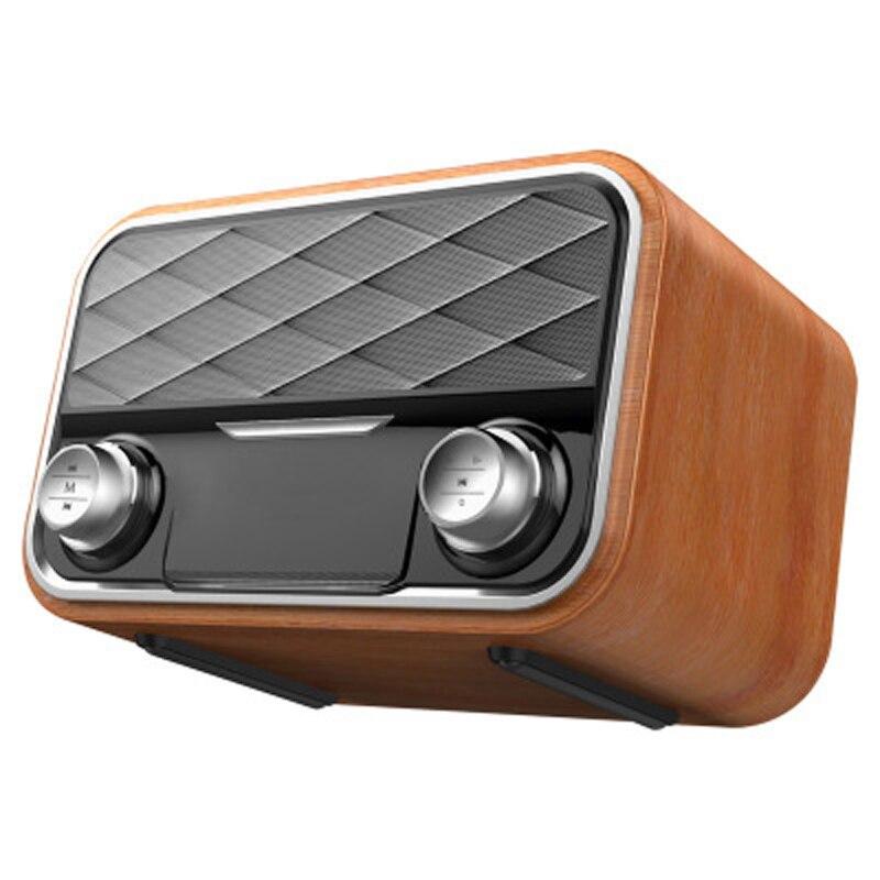 Rétro radio bibliothèque Bluetooth haut-parleur extérieur portable caisson de basses double haut-parleurs subwoofer FM Radio TF carte AUX U disque musique