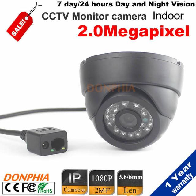 2.0mp 1080 P Mini IR LED Day & Night Câmera Dome IP HD Dome Network Camera 3.6/6mm lente ir-cut App para Android IOS ONVIF