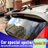 rear window roof wing rear spoiler for hyundai i30 2007 2008 2009 2010 2011 2012 2013 high quality primer or DIY color spoiler