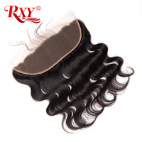 RXY Brazilian Body Wave Lace Frontal Closure Pre Plucked 13x4 Swiss Lace Frontals With Baby Hair