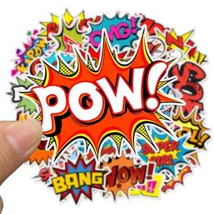 Image 5 - 어린이위한 50 pcs 팝 스타일 buzzword 스티커 장난감 diy 스크랩북 노트북 가방 자전거 스티커 가제트 선물에 크리 에이 티브 텍스트
