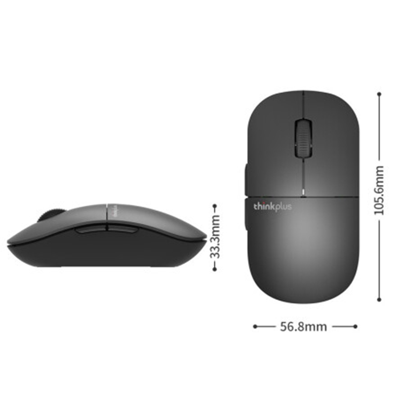 Image 5 - Newest lenovo Wireless mouse ThinkPad thinkplus E3  mute 2.4Ghz Wireless Can change shell RED black laptop computer mouse-in Mice from Computer & Office