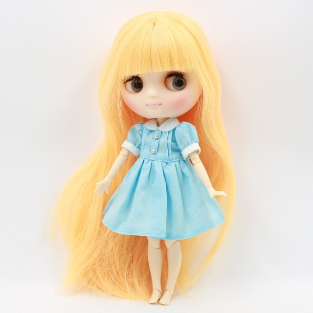 Middie Blythe Doll Pink Blue Yellow Dress Outfit