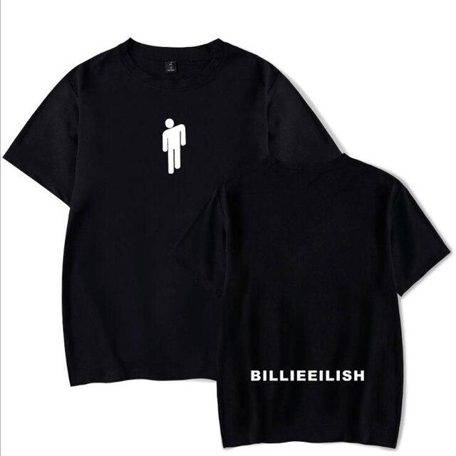 Hip Hop Fashion Brand Clothing KPOP Billie Eilish T Shirt Women/Men 100% Cotton Short Sleeve Funny Tshirt Male/Female Tee Shirt 5