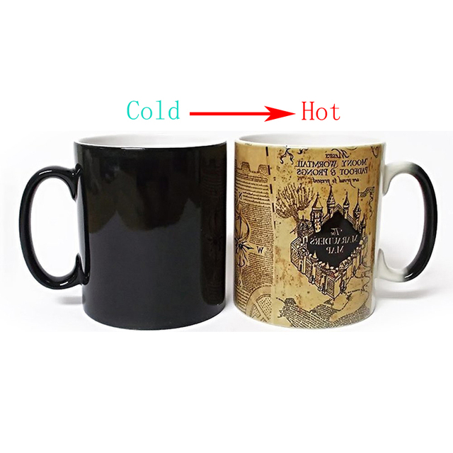 60f786a4c8a New Creative Magic Mug Harry Drink Cup Color Changing Mug Potter Marauders  Map Mischief Managed Wine Tea Cup Gift for Friends-in Mugs from Home &  Garden on ...