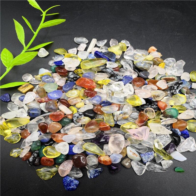 Pierres de guérison de spécimen de gravier de pierre de cristal de Quartz coloré mélangé naturel 1000g